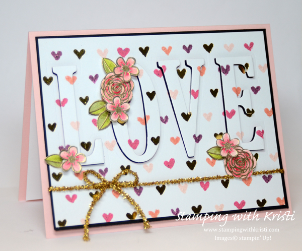Stampin' Up! Painted with Love card by Kristi @ www.stampingwithkristi.com