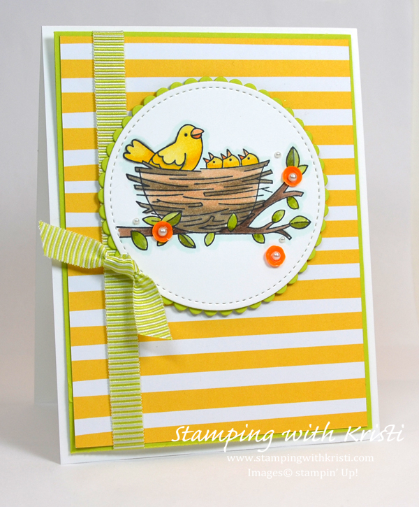 Stampin' Up! Flying Home card by Kristi @ www.stampingwithkristi.com