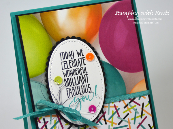 Stampin' Up! Picture Perfect Birthday card by Kristi @ www.stampingwithkristi.com