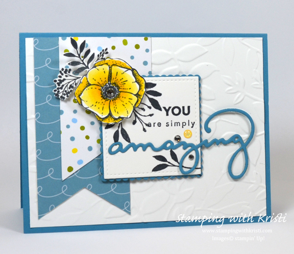 Stampin' Up! Amazing You card by Kristi @ www.stampingwithkristi.com