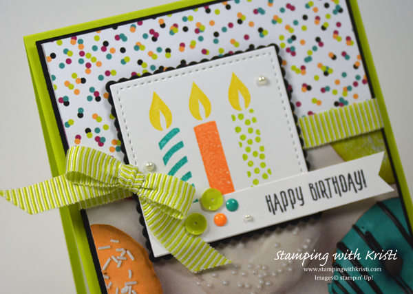 Stampin' Up! Picture Perfect Party card by Kristi @ www.stampingwithkristi.com
