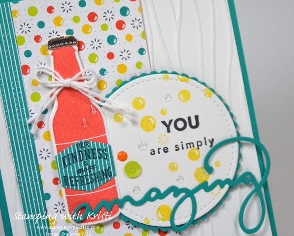 Stampin' Up! Bubble Over card by Kristi @ www.stampingwithkristi.com