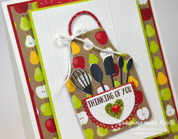 Stampin' Up! Apron of Love card by Kristi @ www.stampingwithkristi.com