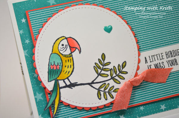Stampin' Up! Bird Banter card by Kristi @ www.stampingwithkristi.com