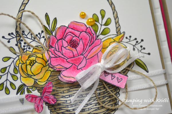 Stampin' Up! Blossoming Basket card by Kristi @ www.stampingwithkristi.com