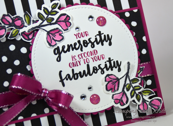 Stampin' Up! Petal Passion card by Kristi @ www.stampingwithkristi.com