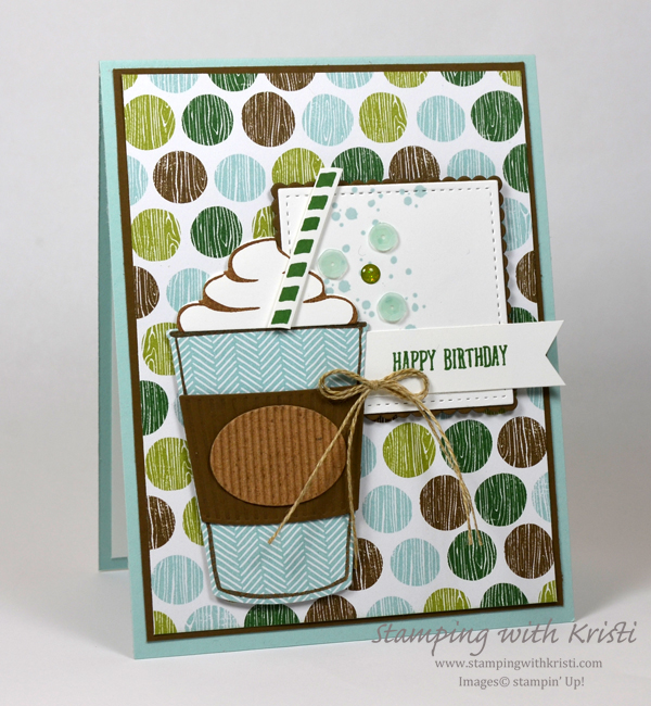 Stampin' Up! Coffee Cafe card by Kristi @ www.stampingwithkristi.com