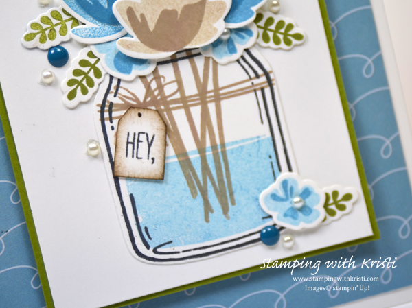 Stampin' Up! Jar of Love card by Kristi @ www.stampingwithkristi.com