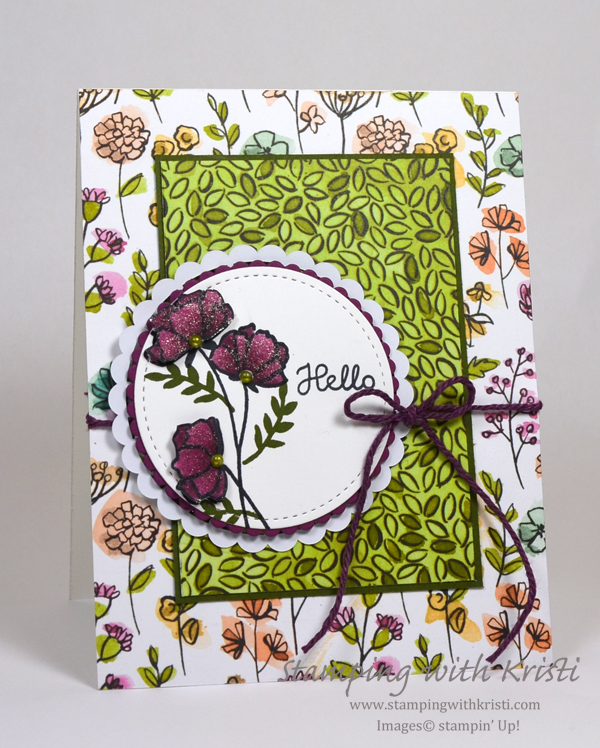 Stampin' Up! Share What You Love card by Kristi @ www.stampingwithkristi.com