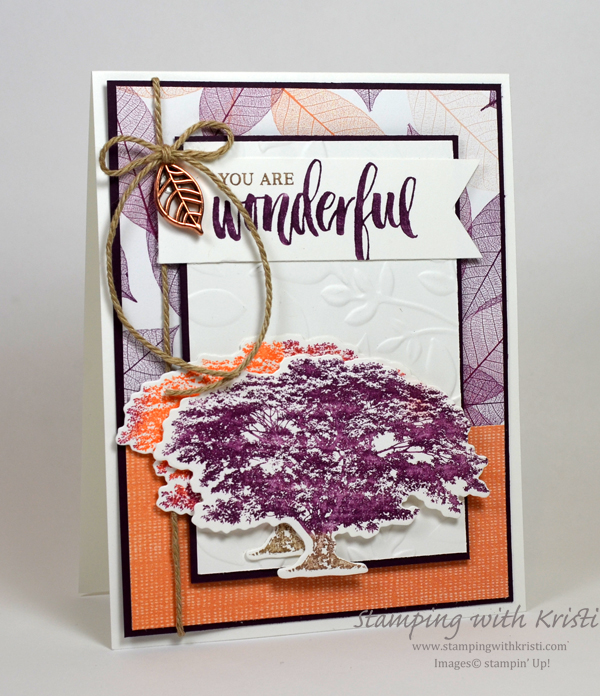 Stampin' Up! Rooted In Nature card by Kristi @ www.stampingwithkristi.com