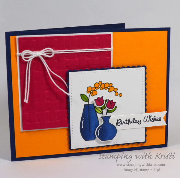 Stampin' Up! Varied Vases card by Kristi @ www.stampingwithkristi.com