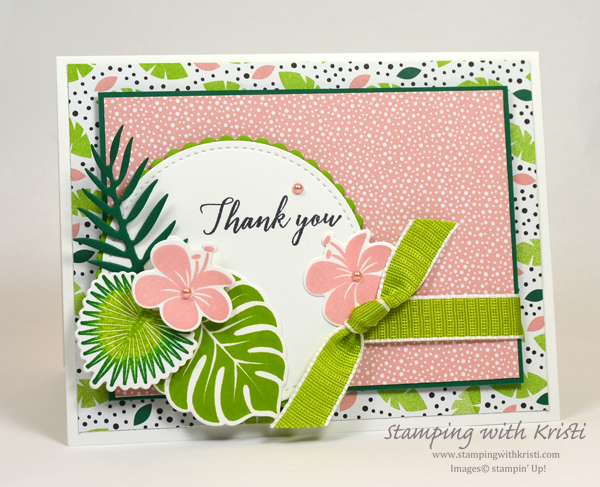 Stampin' Up! Tropical Chic card by Kristi @ www.stampingwithkristi.com
