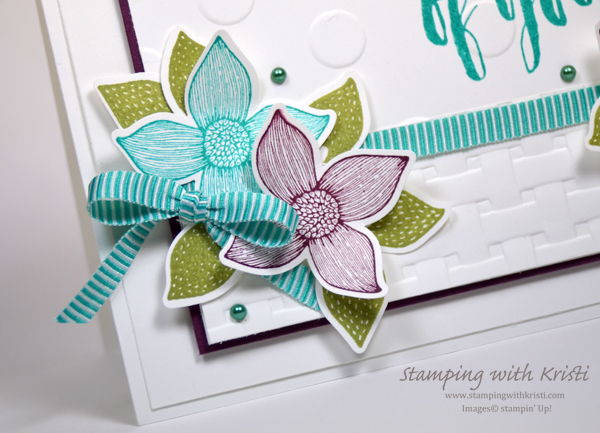 Stampin' Up! Pop of Petals card by Kristi @ www.stampingwithkristi.com
