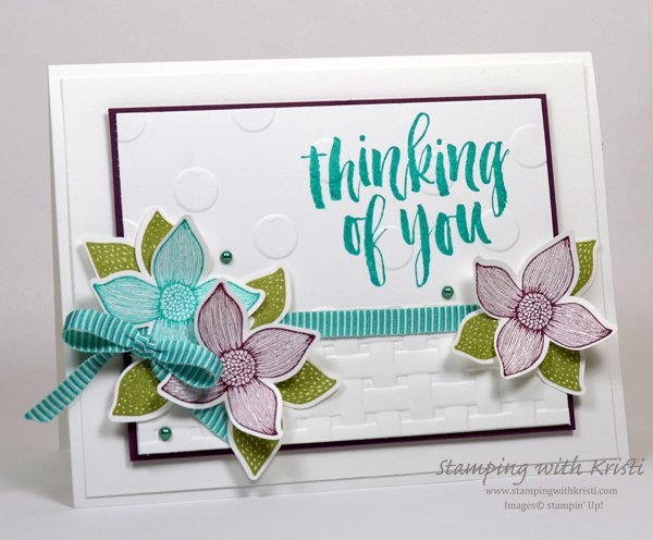 Stampin' Up! Pop of Petals card by Kristi @ www.stampingwithkristi.comti
