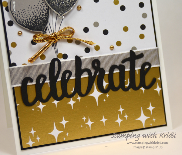 Stampin' Up! More Broadway Bound card by Kristi @ www.stampingwithkristi.com