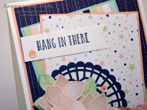 Stampin' Up! Twinkle Twinkle and Pop of Petals card by Kristi @ www.stampingwithkristi.com