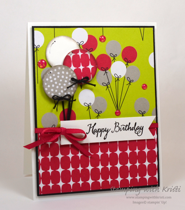 Stampin' Up! Broadway Bound card by Kristi @ www.stampingwithkristi.com