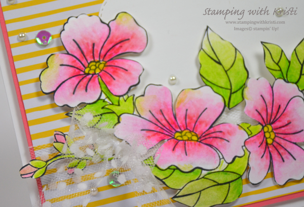 Stampin' Up! Blended Bloom card by Kristi @ www.stampingwithkristi.com