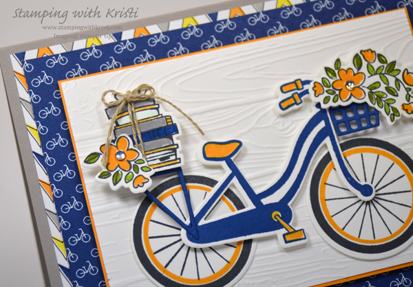 Stampin' Up! Bike Ride and Best Route card by Kristi @ www.stampingwithkristi.com