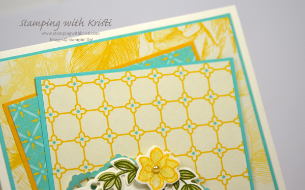 Stampin' Up! Time for Tea card by Kristi @ www.stampingwithkristi.com