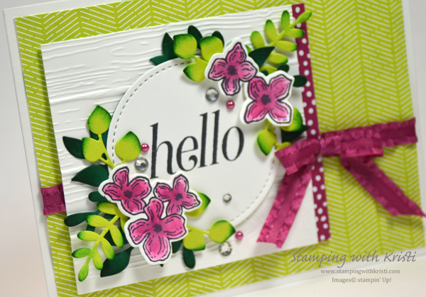 Stampin' Up! Floral Frames card by Kristi @ www.stampingwithkristi.com