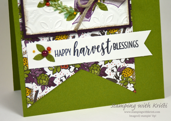 Stampin' Up! Wishing You Well and Country Lane card by Kristi @ www.stampingwithkristi.com