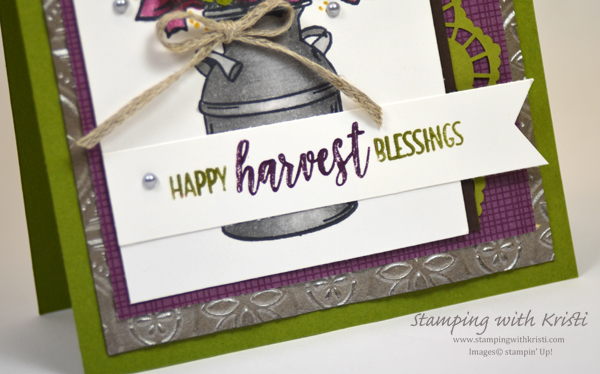 Stampin' Up! Country Home card by Kristi @ www.stampingwithkristi.com
