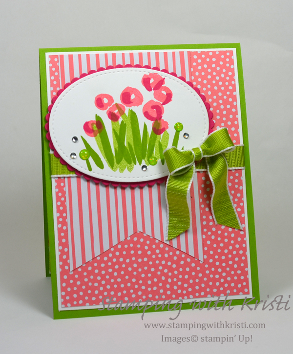 Stampin' Up! Abstract Impressions card by Kristi @ www.stampingwithkristi.com
