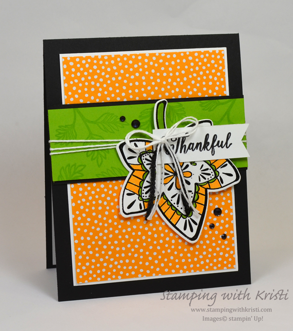 Stampin' Up! Falling For Leaves card by Kristi @ www.stampingwithkristi.com
