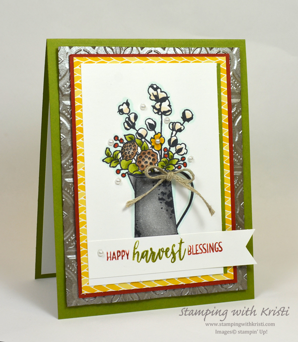 Stampin' Up! Country Home card by Kristi @ www.stampingwithkristi.com, Stampin Up, County Home, card making, Fall card