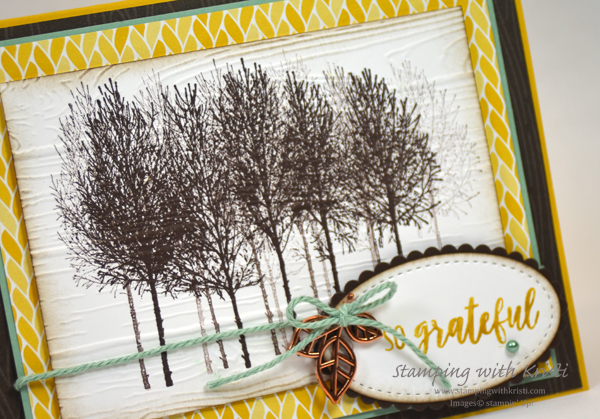 Stampin' Up! Winter Woods card by Kristi @ www.stampingwithkristi.com