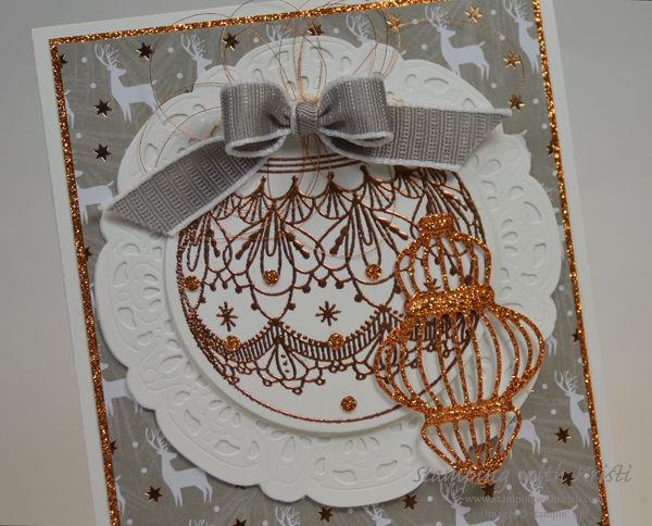 Stampin ' Up! More Beautiful Baubles card by Kristi @ www.stampingwithkristi.com