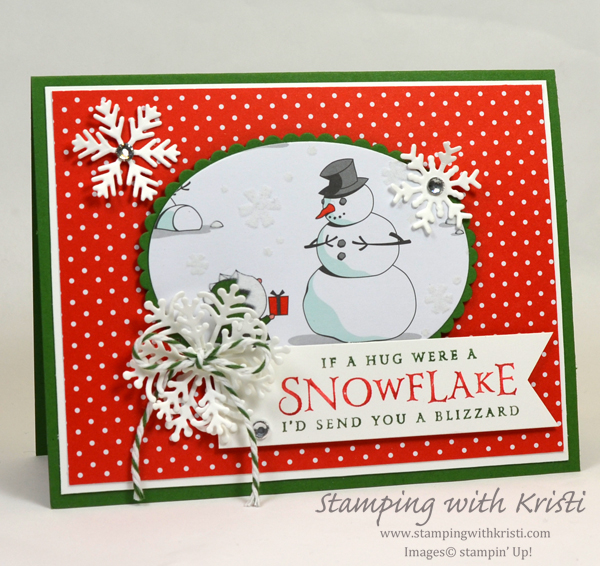 Stampin' Up! Santa's Workshop card by Kristi @ www.stampingwithkristi.com