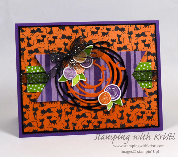 Stampin' Up! Swirly Bird meet Toil and Trouble card by Kristi @ www.stampingwithkristi.com