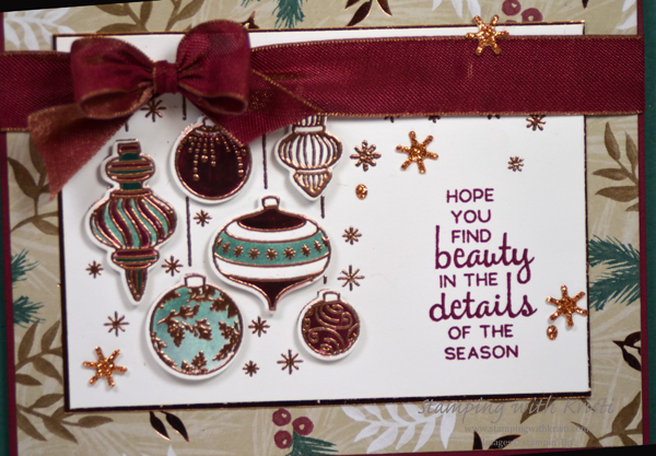 Stampin' Up! Beautiful Baubles card by Kristi @ www.stampingwithkristi.com
