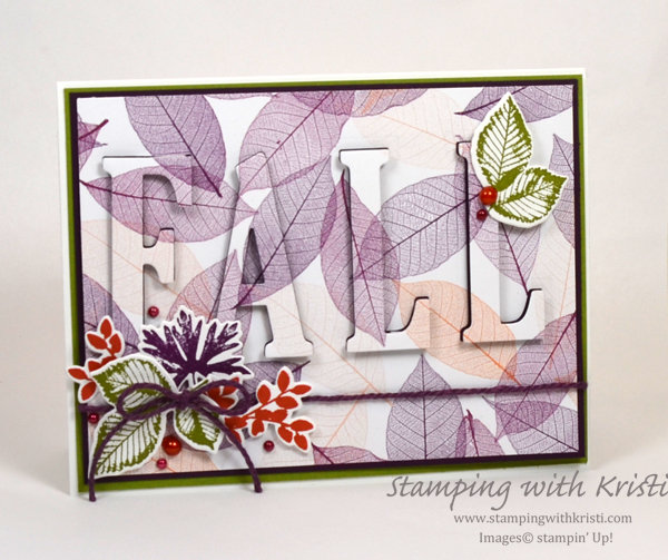 Stampin' Up! Rooted In Nature Eclispe Card by Kristi @ www.stampingwithkristi.com