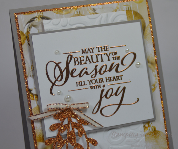 Stampin' Up! Merry Christmas To All card by Kristi @ www.stampingwithkristi.com
