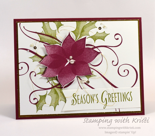 Stampin' Up! Another Stylish Christmas card by Kristi @ www.stampingwithkristi.com