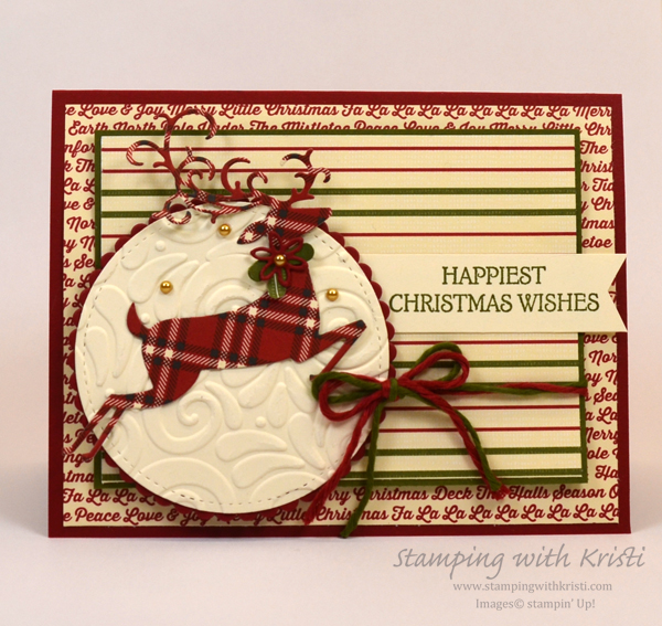 Stampin' Up! Dashing Deer card by Kristi @ www.stampingwithkristi.com