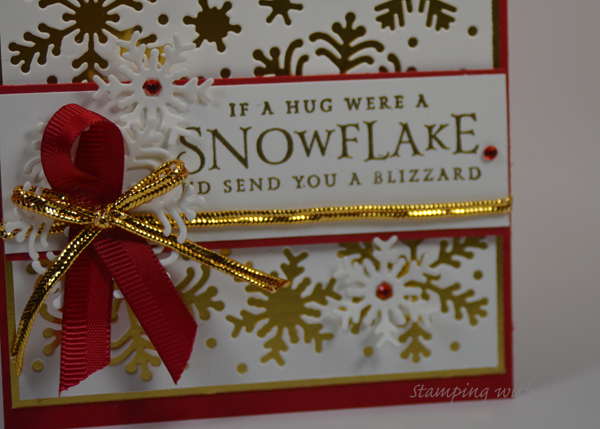 Stampin' Up! Beautiful Blizzard card by Kristi @ www.stampingwithkristi.com
