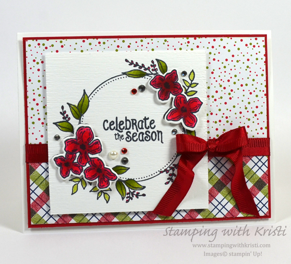 Stampin' Up! Floral Frames Christmas card by Kristi @ www.stampingwithkristi.com