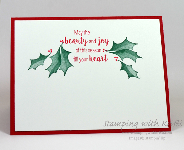 Stampin' Up! Stylish Christmas card by Kristi @ www.stampingwithkristi.com