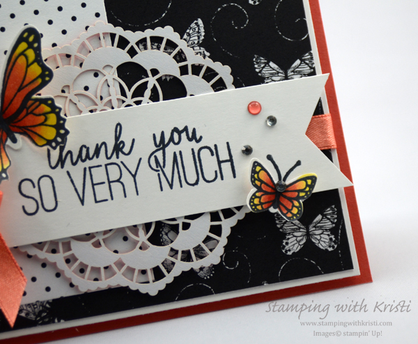 Stampin' Up! Butterfly Gala card by Kristi @ www.stampingwithkristi.com