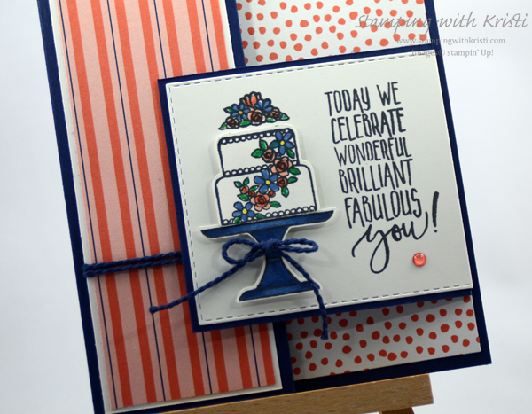 Stampin' Up! PIece of Cake card by Kristi @ www.stampingwithkristi.com