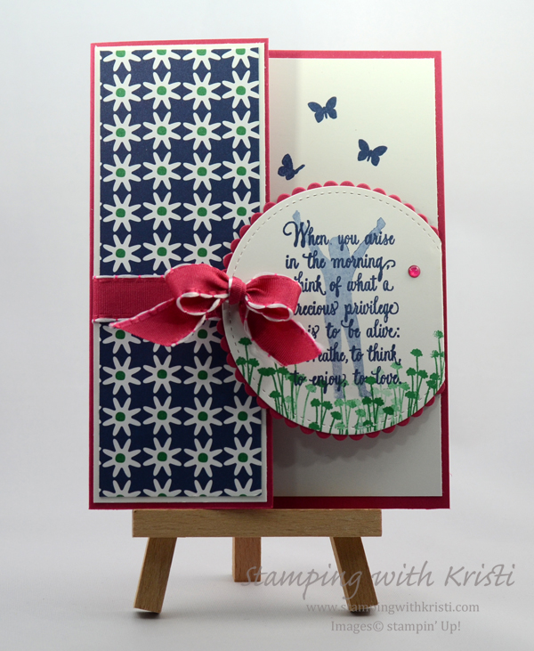 Stampin' Up! Enjoy Life card by Kristi @ www.stampingwithkristi.com