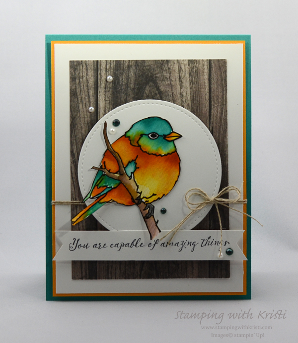 Better With You, Stampin Up, Bird Card, StampingwithKristi