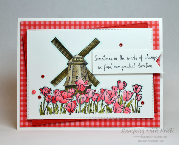 Stampin' Up! Winds of Change card by Kristi @ www.stampingwithkristi.com