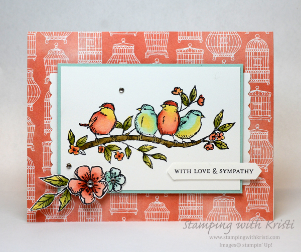 Stampin' Up! Another Bird Ballad card by Kristi @ www.stampingwithkristi.com